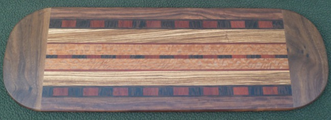 Wide wood serving board